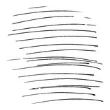 Hand drawn striped pattern. Black and white. Design elements drawn strokes. The effect of gel pens Royalty Free Stock Image