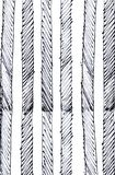 Hand drawn striped pattern. textured illustration. Stock Photography