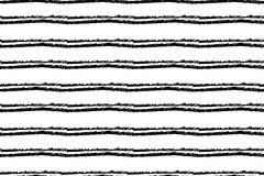 Hand drawn striped seamless pattern. Monochrome horizontal ink rough texture with stripes. Stock Photos