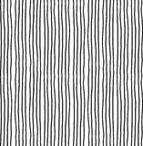 Hand drawn striped seamless pattern. Monochrome vertical ink rough texture with stripes. Royalty Free Stock Image
