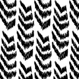 Hand drawn style arrows. Lines pattern. Abstract geometric repeat pattern in black Stock Photo