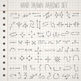 Hand drawn style arrows set Stock Photography