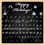Hand drawn style Christmas font Royalty Free Stock Image
