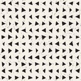 Hand drawn style ethnic seamless pattern. Abstract geometric shapes background Stock Photo