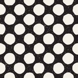 Hand drawn style ethnic seamless pattern. Abstract grungy geometric background in black and white. stock illustration