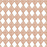 Hand drawn style geometric seamless pattern in brown colors Royalty Free Stock Photography