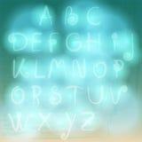 Hand drawn style retro summer cloud alphabet Stock Photography