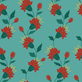 Hand drawn style seamless background flower pattern Royalty Free Stock Photography