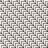 Hand drawn style seamless pattern. Abstract geometric tiling background in black and white. Vector doodle line lattice Stock Photography