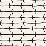 Hand drawn style seamless pattern. Abstract geometric tiling background in black and white. Vector doodle line lattice Royalty Free Stock Images