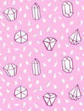 Hand drawn style seamless pattern with diamond shapes. Royalty Free Stock Image