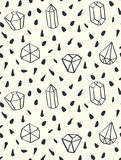 Hand drawn style seamless pattern with diamond shapes. Stock Photography