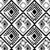 Hand drawn style tribal monochrome Stock Images