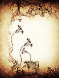 hand drawn stylish floral on old  paper Royalty Free Stock Image
