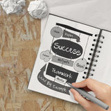 Hand drawn SUCCESS business Royalty Free Stock Photo