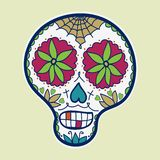 Hand-drawn sugar skull. Vector illustration. Doodle style. Day of the Dead theme Stock Photos
