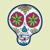 Hand-drawn sugar skull. Vector illustration Stock Photos