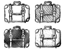 Hand drawn suitcase Royalty Free Stock Images