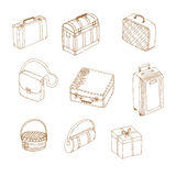 Hand drawn suitcases Royalty Free Stock Image