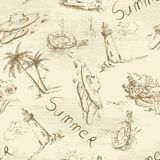 Hand drawn summer background Stock Image