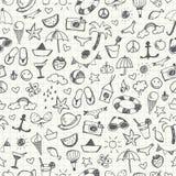 Hand-drawn Summer Doodles. Seamless pattern. Vector illustration vector illustration