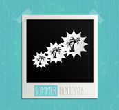 Hand Drawn Summer Holidays retro photo frame Stock Photo