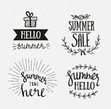 Hand Drawn summer lettering. Summer Holidays lettering for invitation, sale, greeting card, prints and posters. Royalty Free Stock Photography