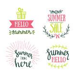 Hand Drawn summer lettering. Summer Holidays lettering for invitation, sale, greeting card, prints and posters. Royalty Free Stock Images