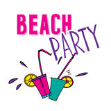 Hand drawn summer party design elements with fancy Stock Photography