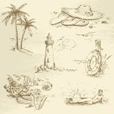 Hand drawn summer time sketch Stock Image