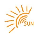 Hand drawn sun icon. Royalty Free Stock Photos