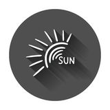 Hand drawn sun icon. Royalty Free Stock Images