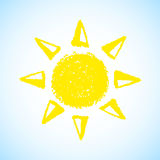 Hand Drawn Sun Royalty Free Stock Photography
