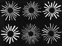 Hand drawn sunbursts Royalty Free Stock Photography
