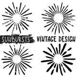 Hand drawn sunbursts Stock Image