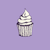 Hand drawn sweets stock illustration