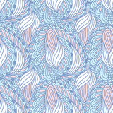 Hand drawn swirl fashion seamless pattern. Doodle Royalty Free Stock Images