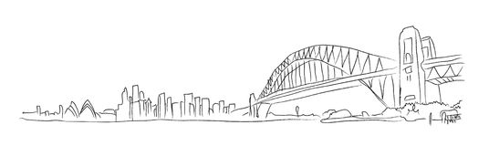 Hand Drawn Sydney Royalty Free Stock Images