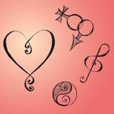 Hand Drawn Symbols Royalty Free Stock Photo
