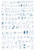 Hand Drawn Symbols Royalty Free Stock Image