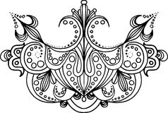 Hand drawn symmetry ornament Stock Images