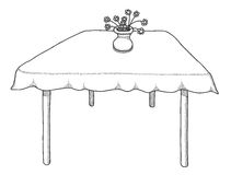 Hand drawn table Stock Photography