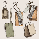 Hand drawn tags Stock Images