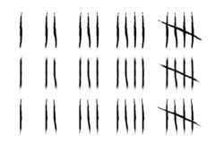 Hand drawn Tally marks vector illustration