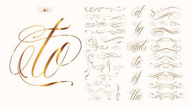 Hand drawn tattoo set. Handmade tattoo lettering and decorative elements Royalty Free Stock Images