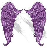 Hand drawn tattoo style wings Royalty Free Stock Photo