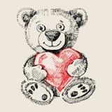 Hand drawn teddy bear Stock Image