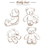 Hand drawn teddy bear Royalty Free Stock Images