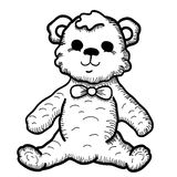 Hand drawn Teddy Bear stock illustration