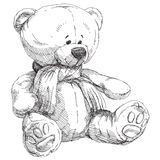 Hand drawn teddy bear Stock Photos